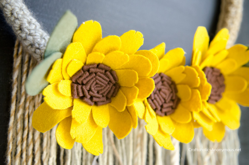 Sunflower Wreath DIY Fall craft
