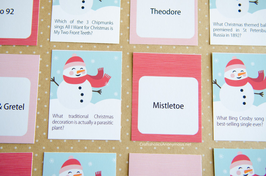 Christmas Game Printable :: Great for Christmas parties, holiday gatherings, family, kids