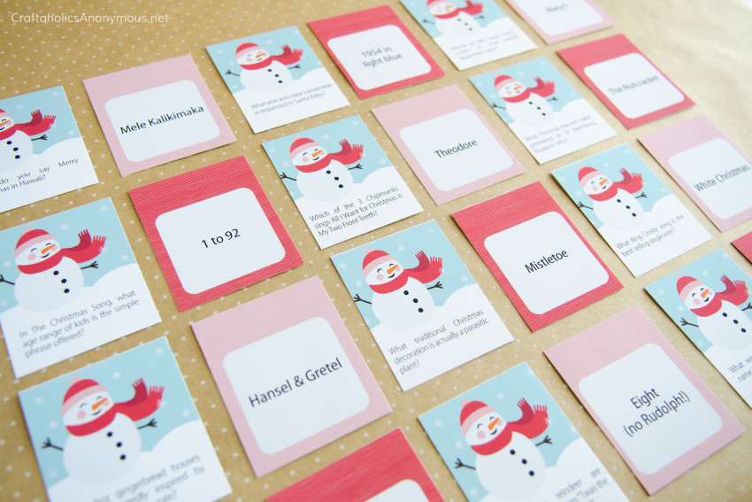 Christmas Trivia Game Printable :: Great for Christmas parties, holiday gatherings, family, kids
